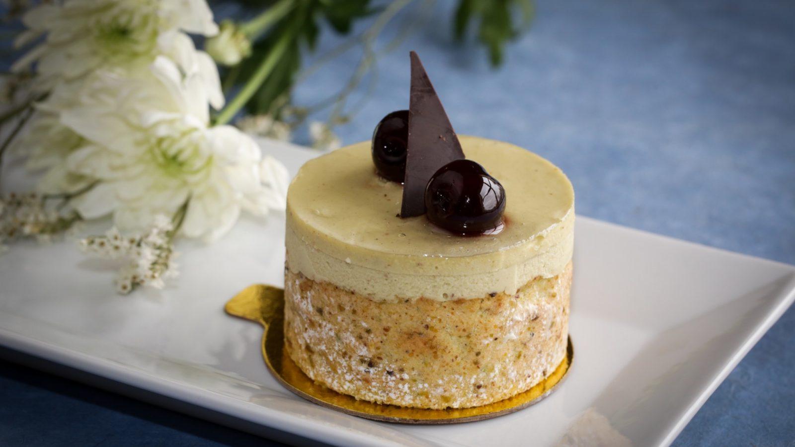 Individual Amarena Cherry Mousse Cake